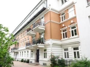 Terrassenhausbebauung in der Bornstraße