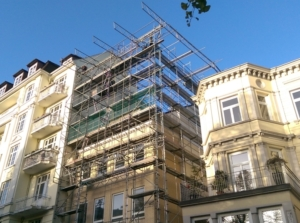 Das Haus am Hallerplatz 5 wächst