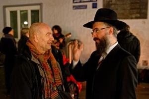 Rabbi Shlomo Bistritzky und Amos Schliack. Foto Sebastian Hartz