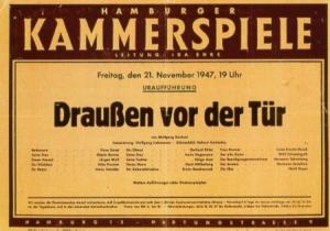 """Kammerspiele Hamburg, Ida Ehre, Wolfgang Borchert, """"Draußen vor der Tür"""""""