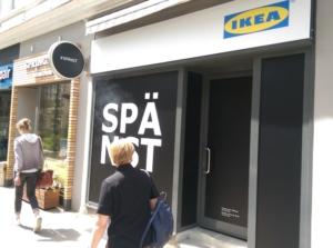 IKEA mit #SPÄNST-Shop im Univiertel von Hamburg