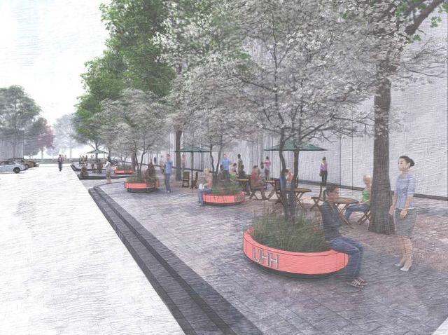 Auf dem Allende-Platz ist ein breiteres Boulevard vor Abaton Kino und Pony Bar geplant
