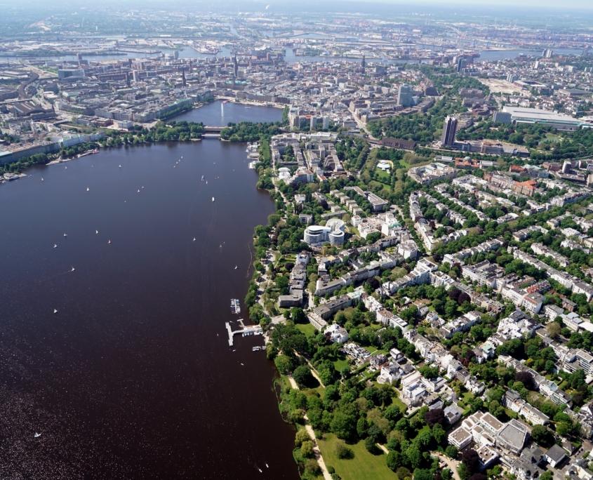 Luftaufnahme Hamburg Rotherbaum